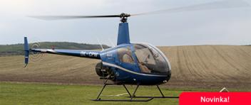 LET vrtulníkem Robinson R22 (1xcestující) Brno