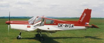 Vyhlídkový LET - Zlín Z-43 (3xcestující) Benešov